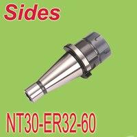 Iso30 NT30 ER32 60 mm primavera Collet Chuck fresagem CNC Toolholder moagem caramanchão adaptador frete grátis