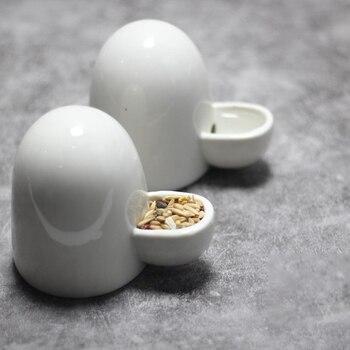 Ceramic Water Bottle Automatic Pet Hamster Rabbit Feeders Silent Little Pet Drinking Bottle Food Dispenser For Hamster 2