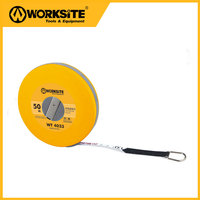 WT4033 50m Long Fibre Flexible Tape Measure Auto Lock Magnetic Measuring Tapes With Hand Strap Belt