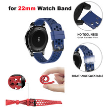 Купить с кэшбэком Silicone Bracelet Strap 22mm Smart Watch Wrist Band for Huami Amazfit Pace Stratos 2 for Huawei Watch GT Pro for Samsung Gear S3