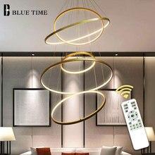 LED Pendant Light Lustres Aluminum Circle Rings Modern Lamp For Living Room Dining room Kitchen Bedroom Luminaires