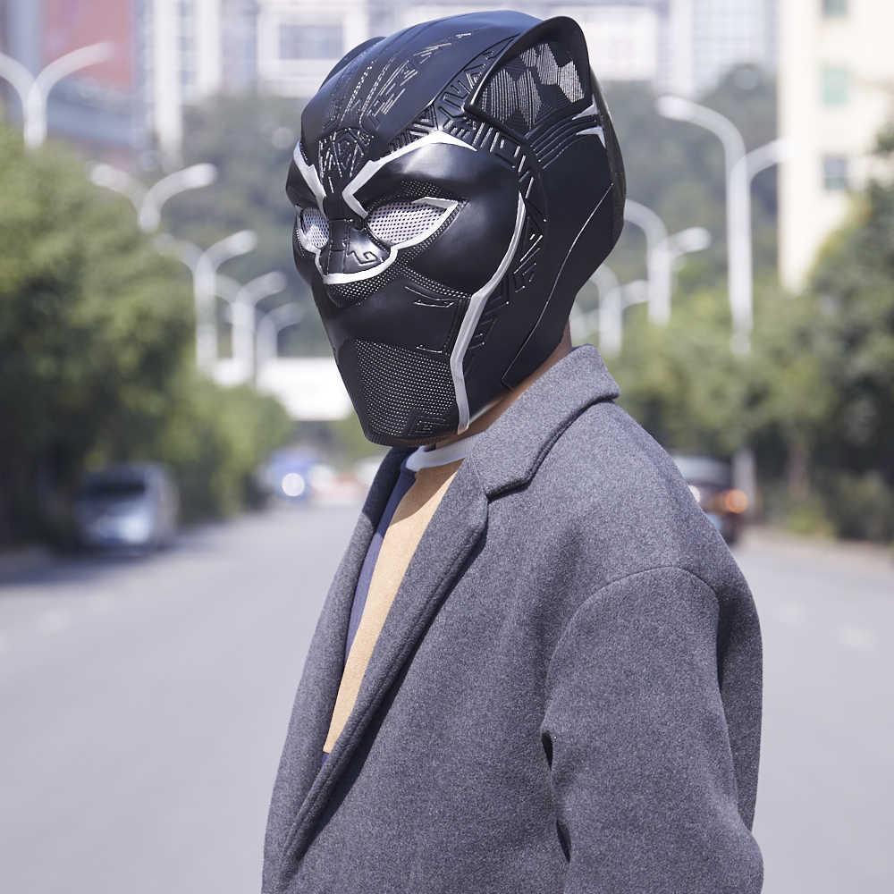 Фильм Черная пантера косплей костюм, реквизит маска шлем Wakanda маска черный шлем ПВХ 2018 фильм аксессуары для Хэллоуина один размер