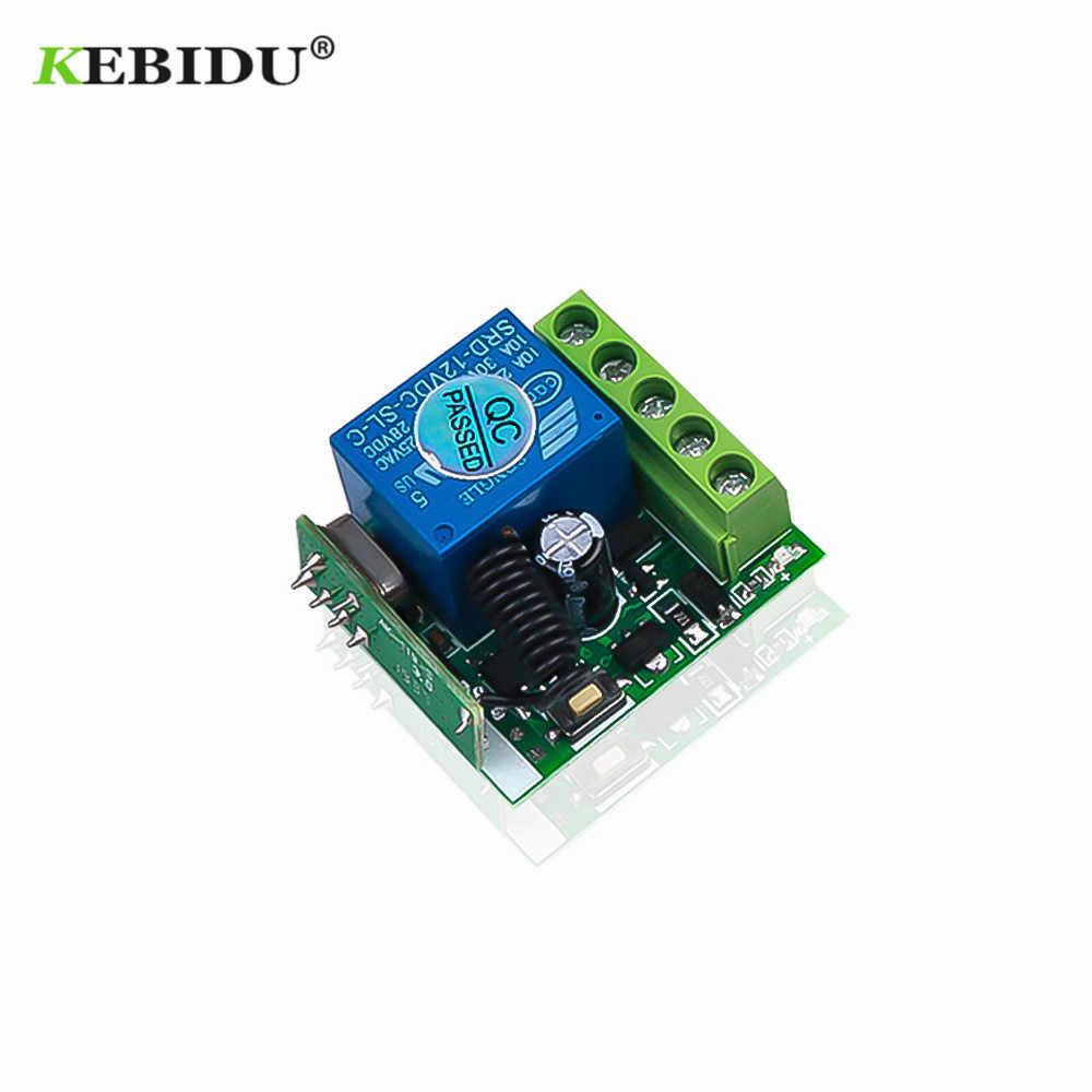 KEBIDU 433 Mhz لاسلكي للتحكم عن بعد التبديل تيار مستمر 12 فولت 1CH التتابع 433 Mhz استقبال لتعلم رمز الارسال عن بعد