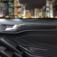 TOMEFON For Ford Focus 2019 Car Inner Door Decoration Sticker Frame Moulding Cover Trim Styling Interior Accessories ABS
