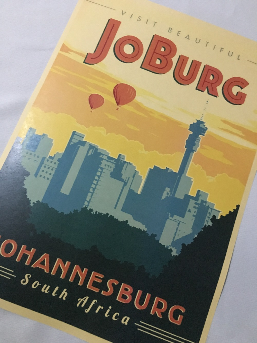 Joburg African Propaganda Vintage Travel Poster Retro Decorative Diy