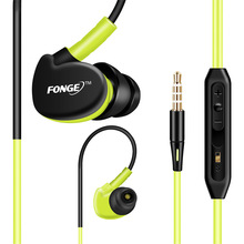 Original F1 Waterproof and sweat Earphone Noise Sport in Ear Earphone Bass For Sumsung/iPhone/ HTC Earphone 3.5mm 4Color select