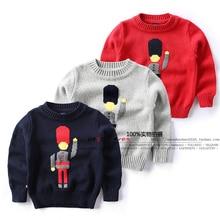 Новинка года; осенне-зимние свитера для малышей; одежда для детей; детские свитера; Повседневный трикотажный пуловер для маленьких мальчиков