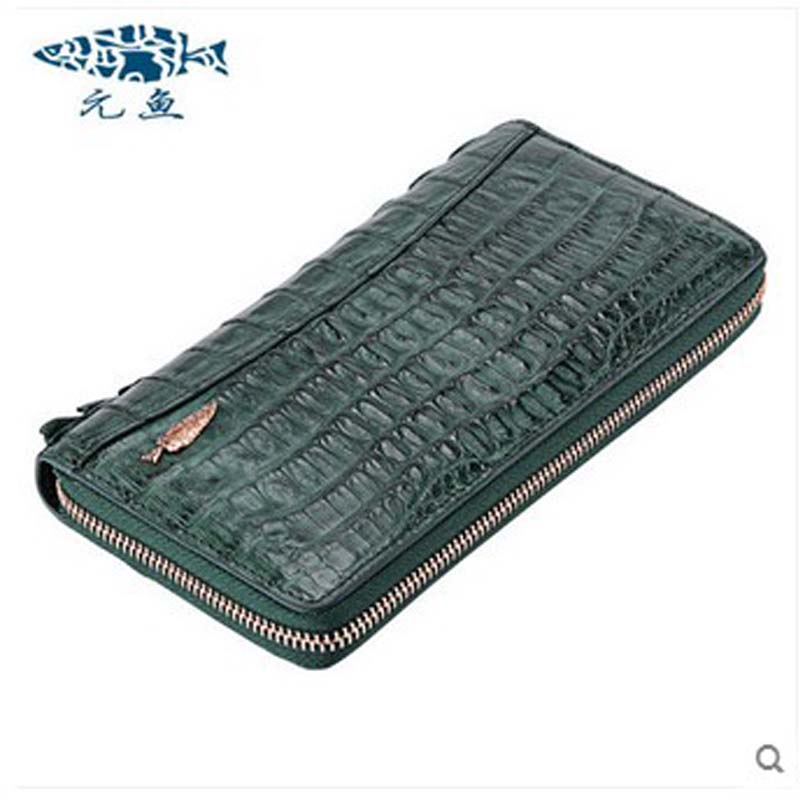2018 yuanyu 2016 new women crocodile bag women clutches  leather bag female crocodile grain long  hand bag yuanyu 2018 new hot free shipping python leather women purse female long women clutches women wallet more screens women wallet
