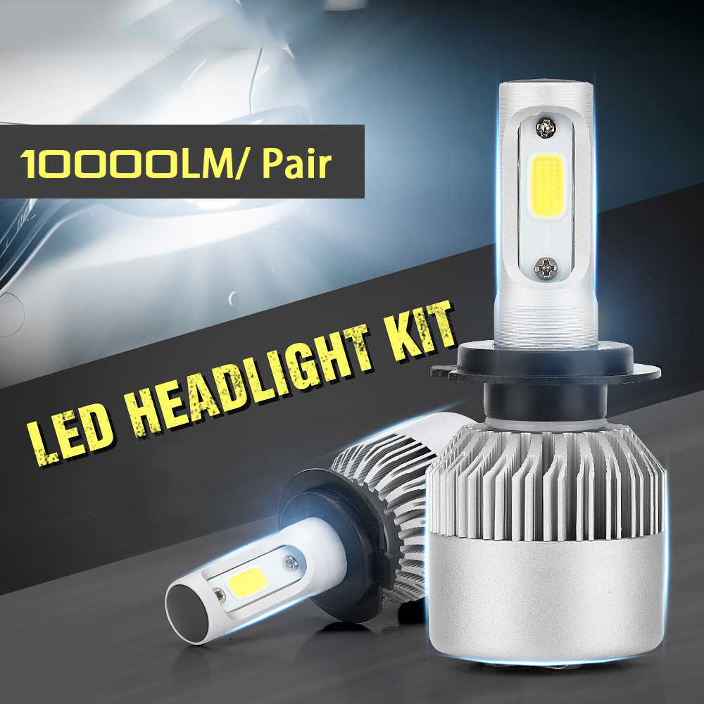 Super bright S2 New LED Car Headlight with 3 Sides Light 10000LM Cree Lamp H1 H3 H4 H7 H11 H13 H27 9004 9005 9006 HB4 9007 HB5