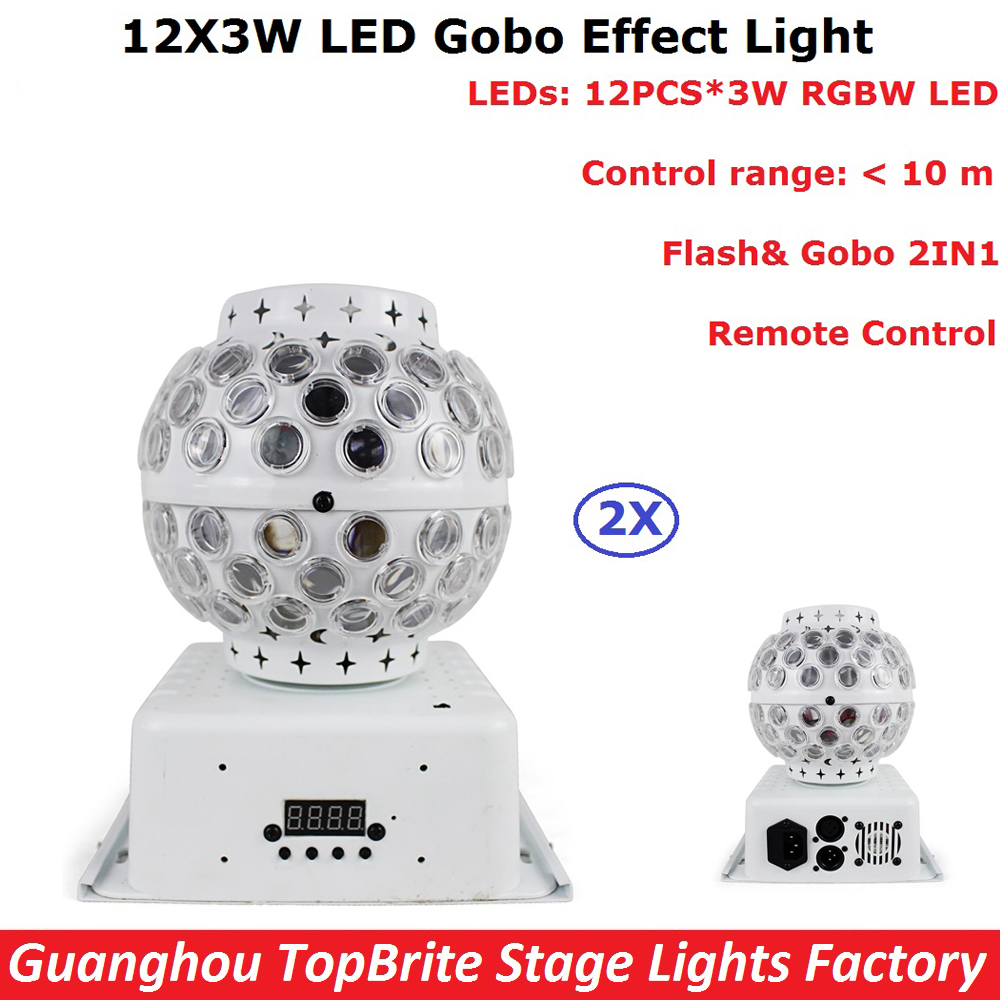 Newest Magic Ball Lights 2Pack 12X3W RGBW 4IN1 LED Gobo Effect Lights For Party Disco DJ Christmas Lighting Shows Fast Shipping niugul dmx stage light mini 10w led spot moving head light led patterns lamp dj disco lighting 10w led gobo lights chandelier
