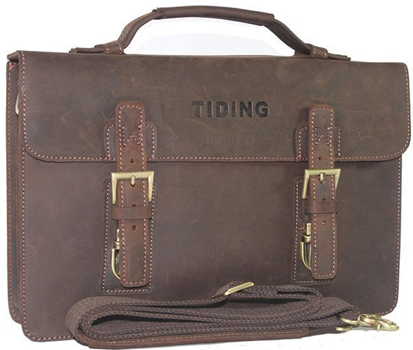 Free EMS shipping, Men's Full grain leather , Briefcase Messenger ,' Laptop leather Case 8001