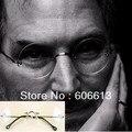 Estilo de alta Qualidade Steve Jobs Liga Sem Aro Óptico Óculos de Armação, rodada Óculos de Lente Clara, frete GRÁTIS