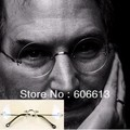 High Quality Steve Jobs Style  Alloy Rimless Optical  Glasses Frame, Round Clear Lens Glasses, Free SHIPPING