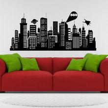 7656574f3649 Large Size 132x41inch Batman Gotham City Wall Decal Comics Vinyl Sticker  Kids Room Home Art Decor E605-A