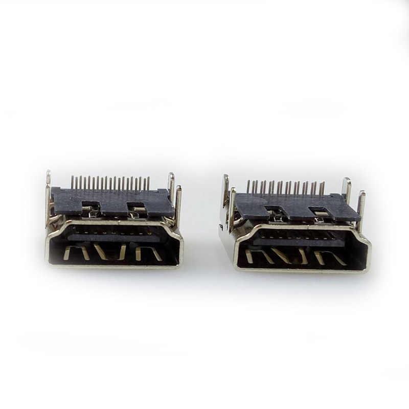 10 шт./лот HDMI 19Pin/F 90 разъем печатной платы HDMI Женский адаптер с прямым углом 19 Pin 1,8 мм длина HDMI сплиттер/переключатель