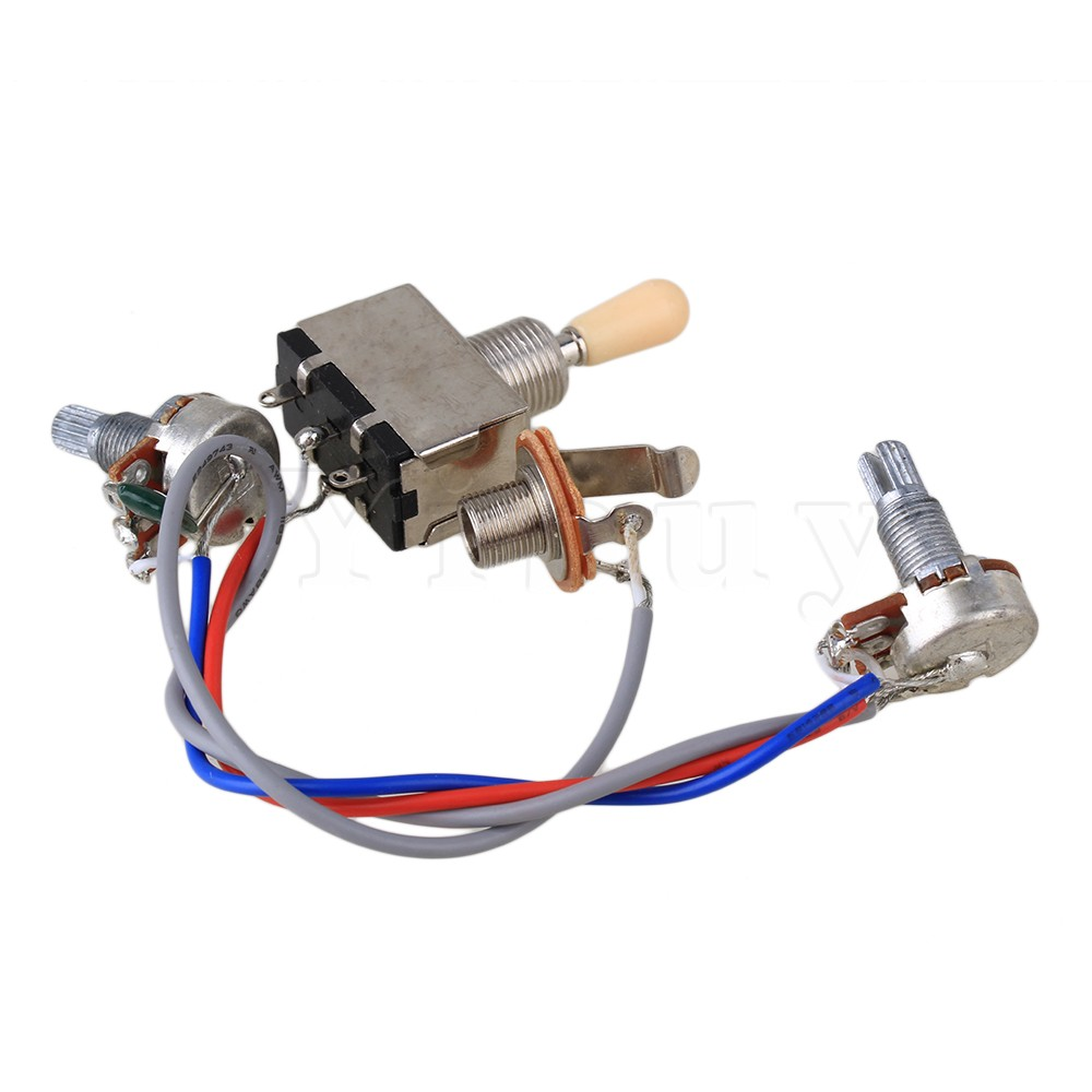 Yibuy Guitar Wiring Harness 3way Toggle Switch 1v1t 500k Electric 3 Way Electrical 2 Humbucker In Parts Accessories From Sports Entertainment On