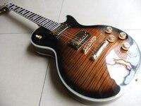 Nowy Przyjazd lp najwyższy electric guitar maple top w kolorze brązowym 110915