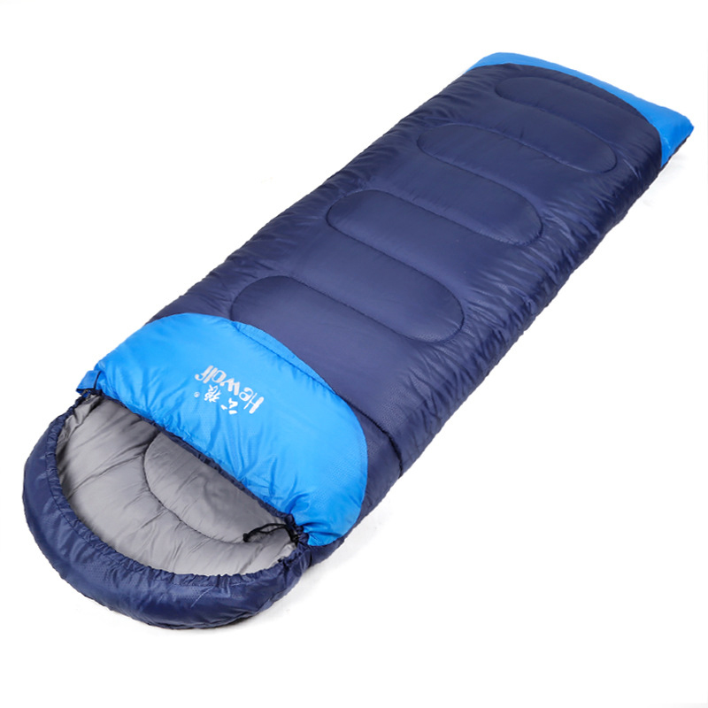 220*75cm outdoor camping travel envelope style adult autumn winter cotton thermal portable emergency High quality sleeping bag nh sleeping bag adult outdoor winter thermal winter thickening thermal autumn and winter cotton sleeping bags single double