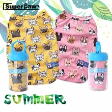 Cute Fashion French Bulldog Summer Cooling T-shirt Outdoor Vest Pet Clothes Dogs Pets Clothing Cat Dog Apparel Pug Costume ZZC01