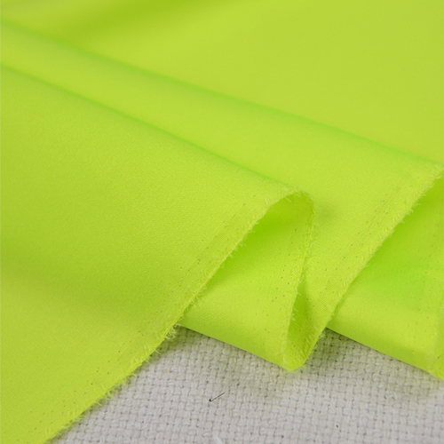 07cdf06e8f1905 Bright green mix yellow pure silk georgette satin silk fabric 19momme 110cm  width by yard
