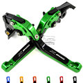 LS-001A-Z800-GR Green Motorcycle Adjustable CNC Brakes Clutch Levers Set Motorbike brake For Kawasaki Z800/E version 2013-2015
