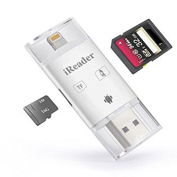 3in1 iFlash Drive USB Micro SD SDHC TF OTG Card Reader Writer for iPhone Android