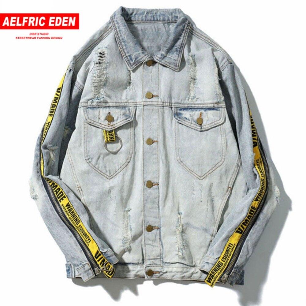 Aelfric Eden зима Пилот Для мужчин s джинсовая куртка Повседневное модные Для мужчин куртка-бомбер Бейсбол куртки Для мужчин джинсовая куртка ...