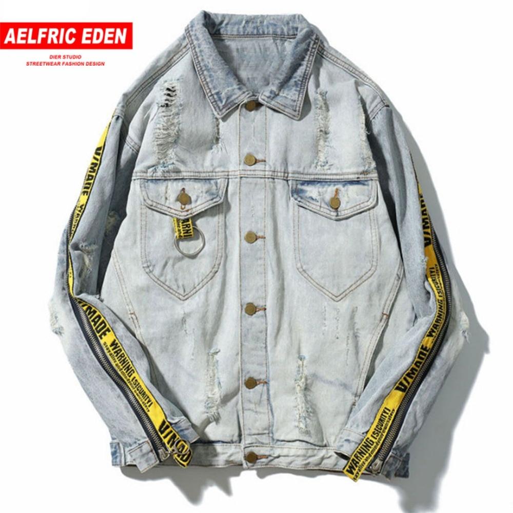 Aelfric Eden D'hiver Pilote Hommes Denim Veste Mode Casual Hommes Bomber Baseball Vestes Hommes de Jean Veste Chaqueta Hombre PA101