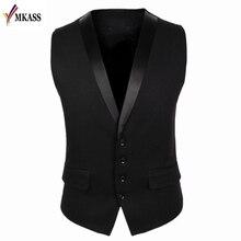 Men Suit Vest 4 Buttons V Collar Classic Dress Slim Fit Vests Male Sleeveless Brand Mens Formal Wedding Waistcoat M-XL