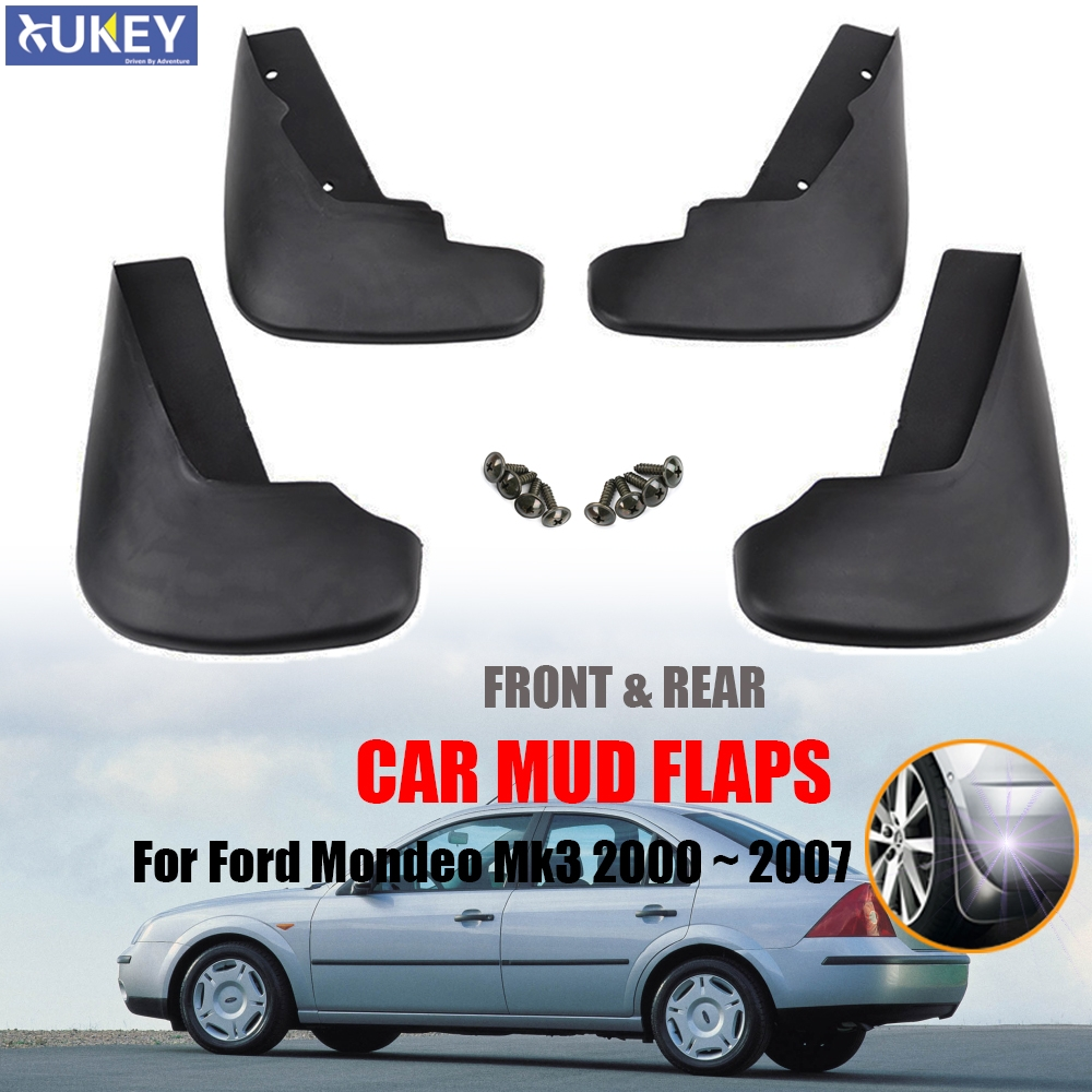 Upgraded Car Mud Flaps Mudguards for FORD Mondeo 2007-2012 Front Rear Splash Guards Car Fender Styling /& Body Fittings Black 4Pcs
