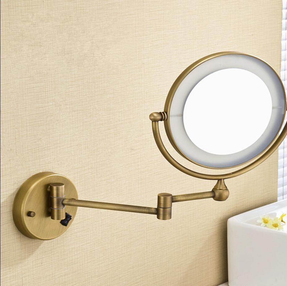 Bath Mirror Bronze Wall Mounted 8 inch Brass 3X/1X Magnifying Mirror ...