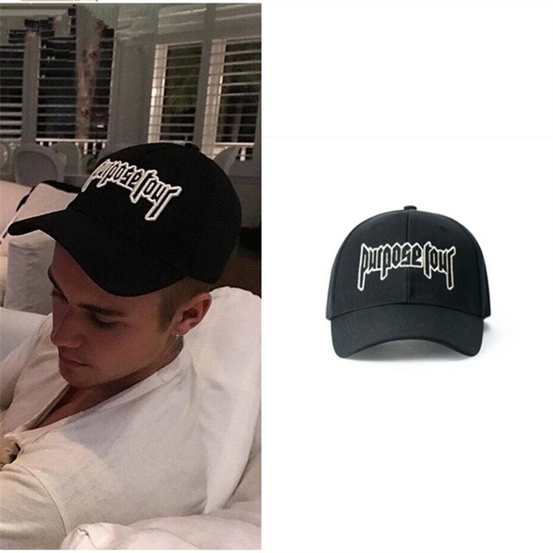 Brand New Purpose Tour Baseball Cap Embroidered Vintage Retro Justin Bieber Hat High Street Dark Tide Caps For Women and Men brand bonnet beanies knitted winter hat caps skullies winter hats for women men beanie warm baggy cap wool gorros touca hat 2017