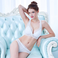 Femal Intimates Sexy Lingerie Set Vrouwen Ondergoed Kanten Beha Set Driehoek Bralette Open Cup Beha En Panty Set 70-85 ABC Zachte Beha
