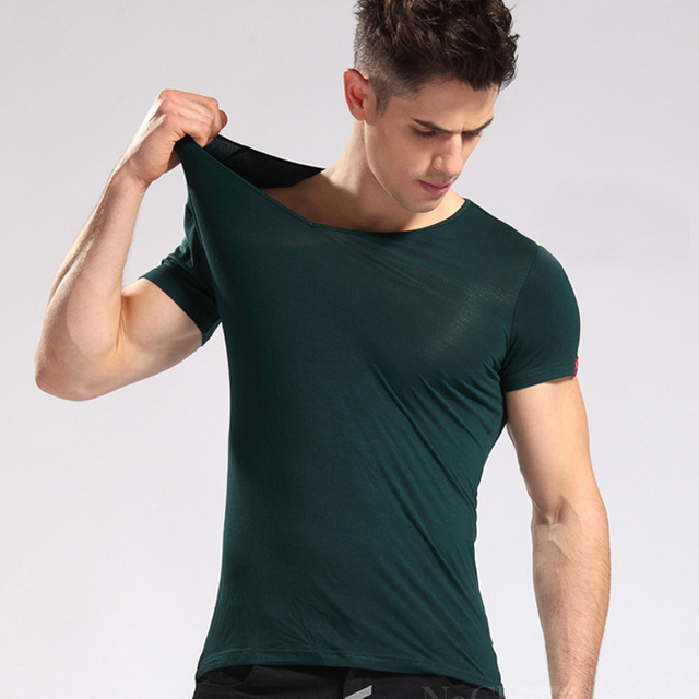 tees men most color high slim tops in v solid s from t quality fit cotton item style comforter modal shirts neck and comfortable tight max