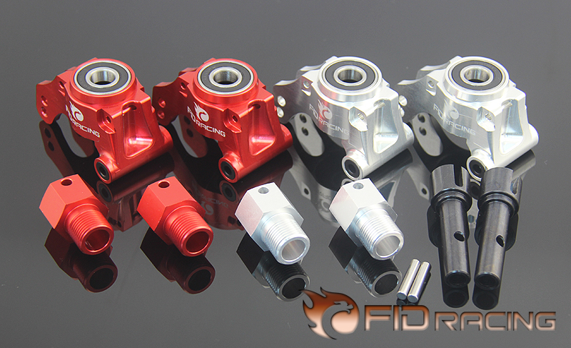 FID Alloy Rear Hub Carrier Wheel Steering Seat Axle Extender for 1/5 Scale RC Truck LOSI DBXL DBXL E