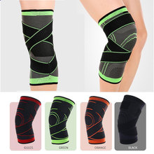 Sports Elastic Breathable Knee Pad Brace 3D Weaving Pressurization Support Protector Fitness Running Hiking Tennis Bandage