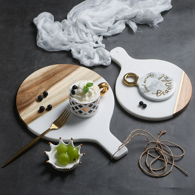 Marble & Wooden Tray 2