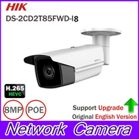 HOME Security IP Camera DS 2CD2T85FWD I8 Bullect Camera 8MP POE CCTV Camera 80m IR Range