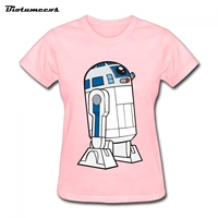 Women T Shirt Fashion Cotton Short Sleeves Star Wars Robot Ladie T Shirt Brand Clothes Summer