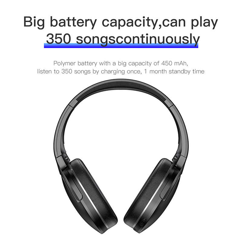 2f2d3bdc993 ... Baseus D02 Bluetooth Headphone Portable Wireless Headset Adjustable  Earphones With Microphone for PC Phone Stereo Earphone ...