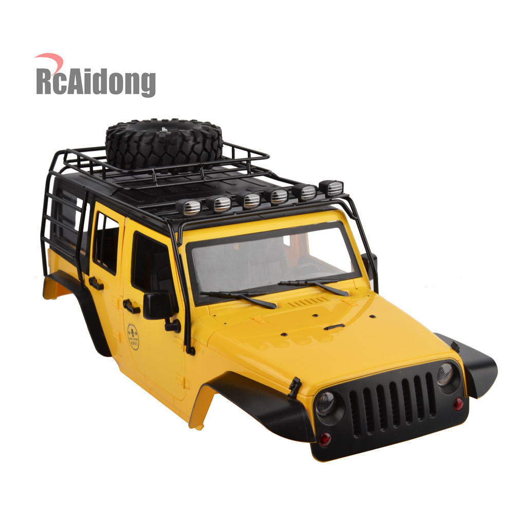 High Quality Matal 1/10 RC Roof Rack Luggage With Multi-function LED Light for 1/10 AXIAL SCX10 JEEP Roof Rack Crawler RC Car injora roof rack luggage carrier with light bar for 1 10 rc crawler d90 axial scx10 90046