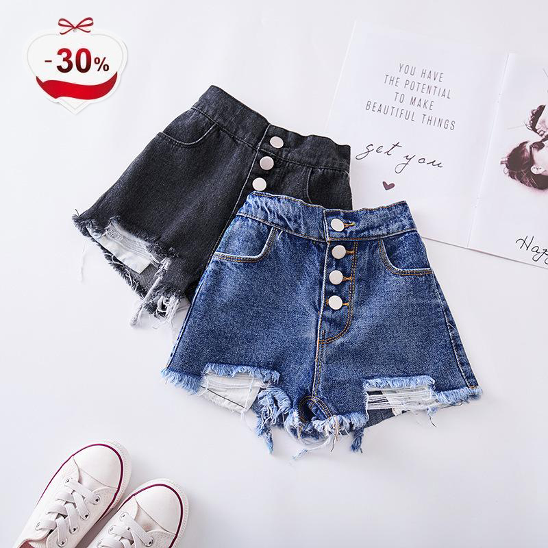 chifuna New Summer Baby Girls   Shorts   for Kids Ripped Jeans for Children Denim   Shorts   for 3 4 5 6 7 8 Years Old Baby Clothes