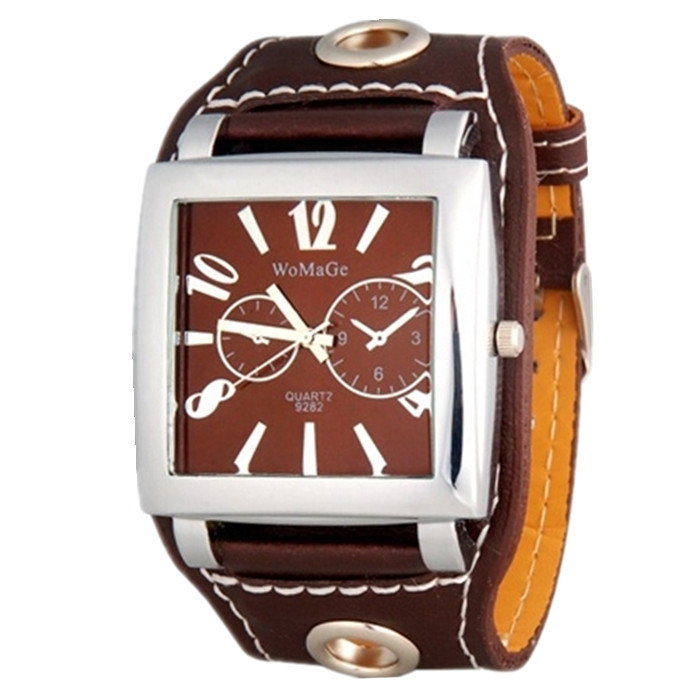 Fashion WoMaGe Brand Watch Women Wristwatches Square Big Dial Quartz Clock Casual Number Student PU Leather Strips Hours Watches roman number square dial skone brand watches women luxury top quality fashion casual quartz watch leather wristwatches relojes