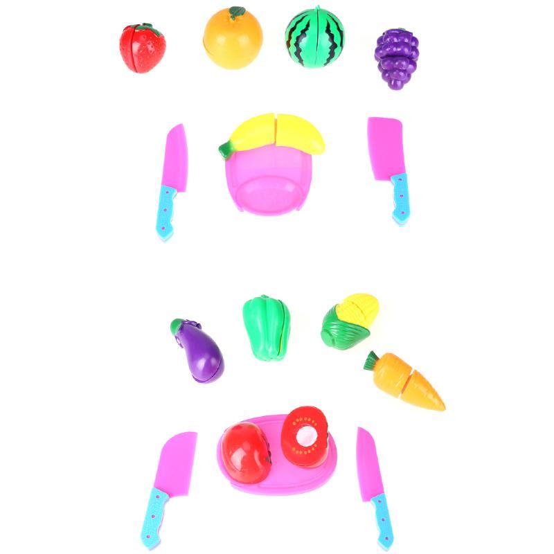 1 Set Kitchen Pretend Playing Brinquedo For Children Vegetable Fruit Orange Kitchen Toys Kids Baby Pretend Playing Cutting Toy