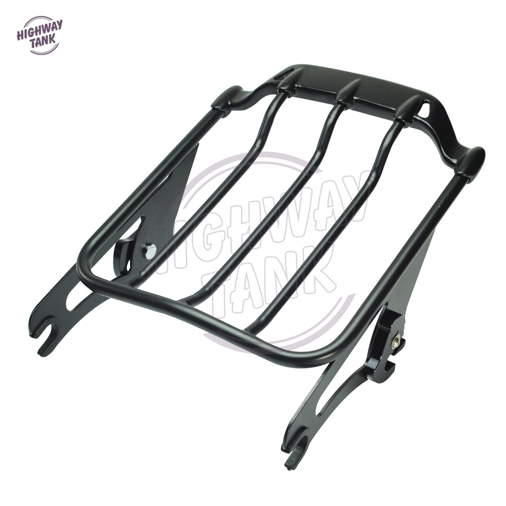 Motorcycle Detachable 2-UP Air Wing Luggage Rack Moto Rear decoration case for Harley Touring Street Glide FLHX 2009-2016 partol black car roof rack cross bars roof luggage carrier cargo boxes bike rack 45kg 100lbs for honda pilot 2013 2014 2015