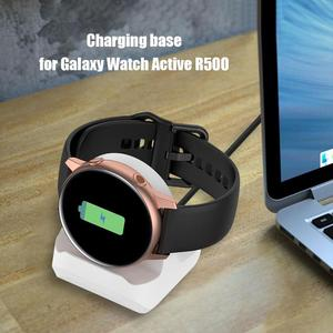 Image 3 - Silicone Charging Stand Dock Cable for Samsung Galaxy Watch Active 40mm R500 Smart Watch Charger Holder for Active 40mm R500 new