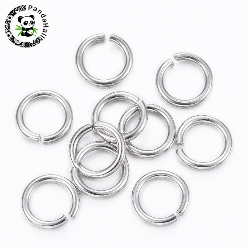 3mm 4mm 5mm 6mm 7mm 8mm 304 Stainless Steel Single Loops Open Jump Rings For Jewelry Making Necklace Bracelet