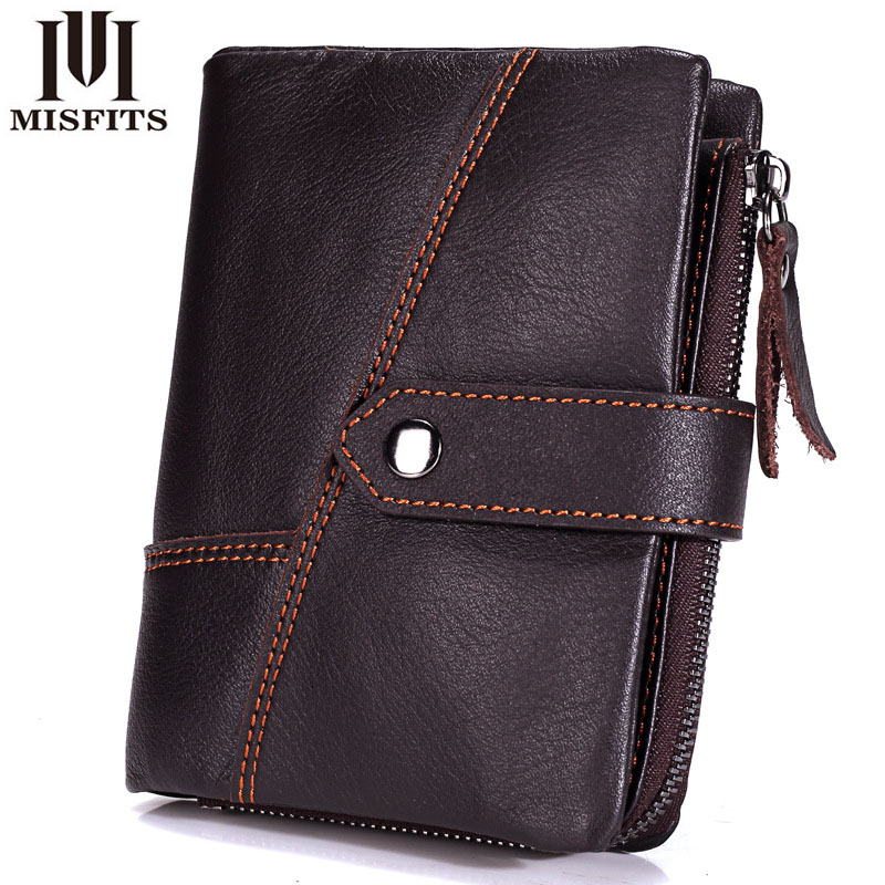 New Top Quality Genuine Leather men Wallet Brand zipper Men's Wallets Luxury Dollar Vintage cow leather Male Purse card Coin Bag ivotkova top quality cow genuine leather men wallets fashion splice purse dollar bag price carteira masculina free shipping gift