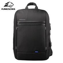 KINGSONS 13.3 À Prova D' Água bolsa de Ombro Único Mochila Laptop para Homens e Mulheres Uso Diário para 13.3 Polegada Computador bolsa de Negócios Viagens