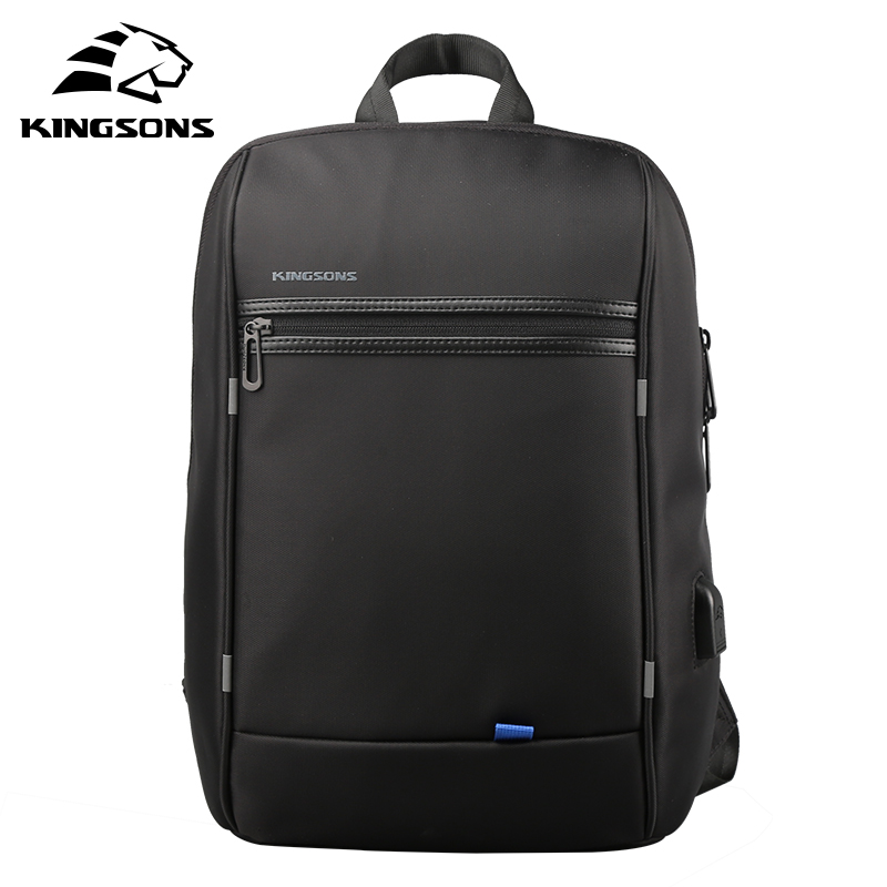 KINGSONS 13.3 Waterproof Single Shoulder Laptop Backpack for Men and Women Daily Using for 13.3 Inch Computer Travel Business